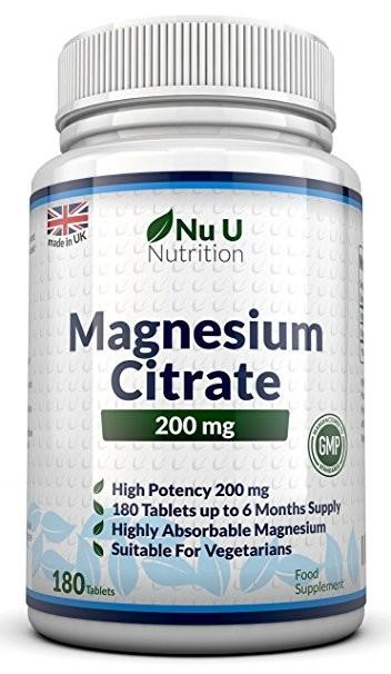 Benessere Femminile 81TvGtxIaML._SY606_ Integratore di magnesio della Nu U Nutrition - recensione e prezzo
