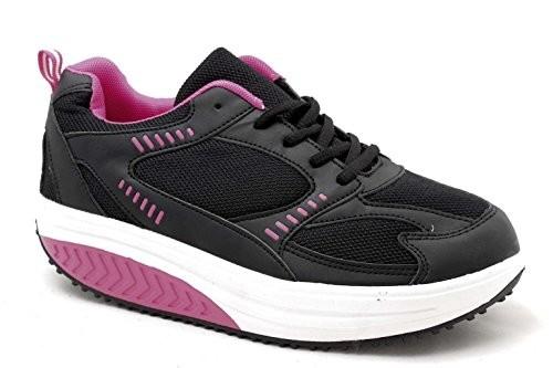 Benessere Femminile SCARPE-RASSODA-GLUTEI-EGLEMTEK-TM-BENESSERE-DIMAGRANTI-SPORTIVE-FITNESS-BASCULANTI-40-265-cm-Nero-Fuxia-0-4 Scarpe fitness rassoda glutei Mapleaf - recensione e prezzo
